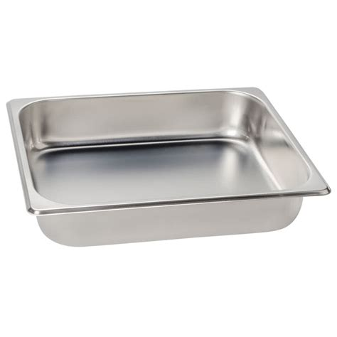 stainless steel steam table pans 1 2 size standard weight economy stainless steel steam