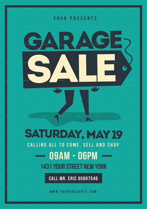 garage sale flyer template retro garage sale flyer by lilynthesweetpea graphicriver