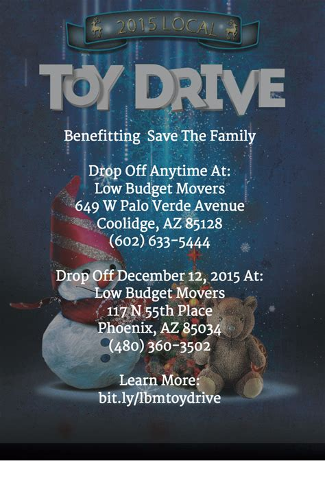 low budget movers hosting drive to benefit save the