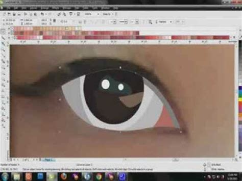tutorial menggambar di coreldraw x4 tutorial vector corel draw menggambar mata youtube