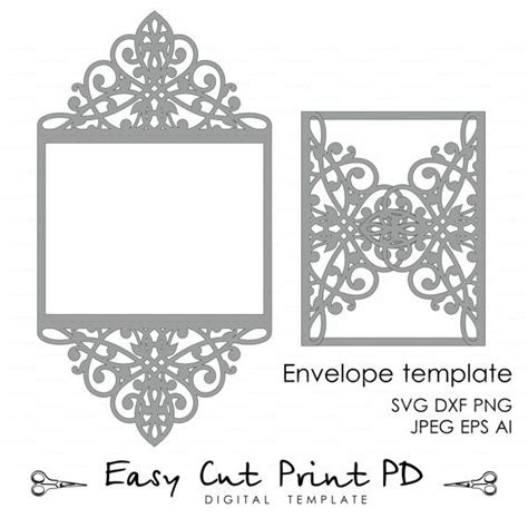 card template for cricut wedding invitation pattern card template lace folds