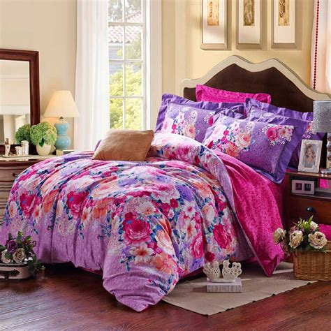 Set Flower purple floral duvet cover sets ebeddingsets