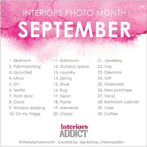 instagram monthly challenge interiors photo month is back for september there