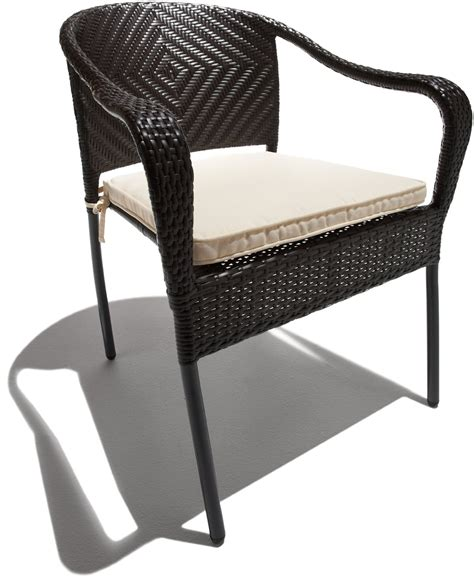 stackable wicker patio chairs pair of all weather stacking wicker patio garden chairs