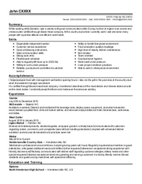 cutter resume exle b j s wholesale club glen