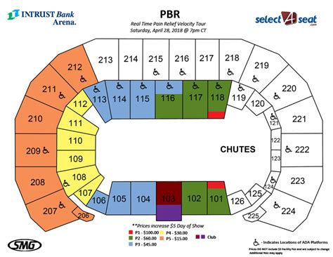 matthew arena seating pbr seating charts events tickets intrust bank arena