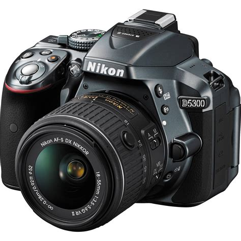 nikon  dslr camera   mm lens gray  bh