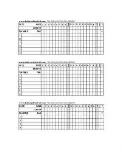 Blank Scorecard Template by 10 Golf Scorecard Templates Free Sle Exle Format