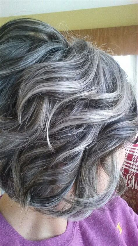 Lowlights And Highlights To Soften The Transition To Grey | lowlights and highlights to soften the transition to grey