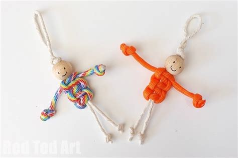 Macrame Craft - easy macrame dolls using paracords ted s