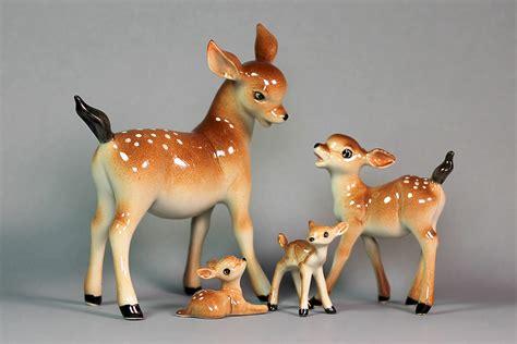 miniature ceramic family deer figurineterrariumfigurine