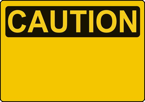 clipart caution sign template