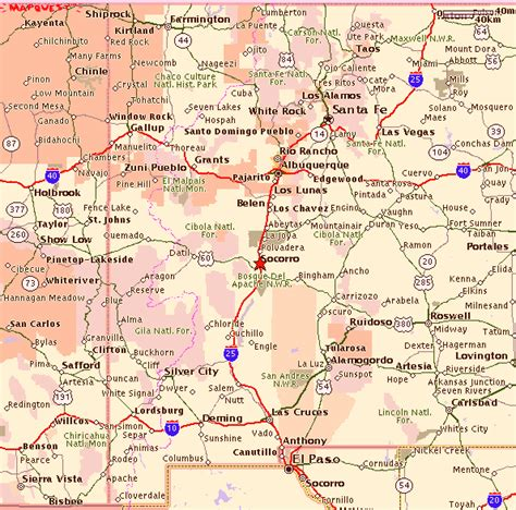 new mexico map with cities map of new mexico road conditions counties cities map