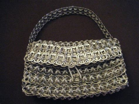 pop tab crafts projects pop tab purse 183 how to make a recycled bag 183 braiding on