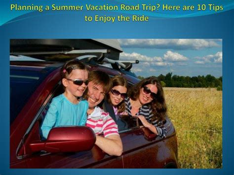 planning a summer vacation road trip