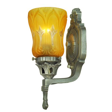 Antique Wall Sconces Pair Of Edwardian Style Lights With Fashioned Lights For Sale