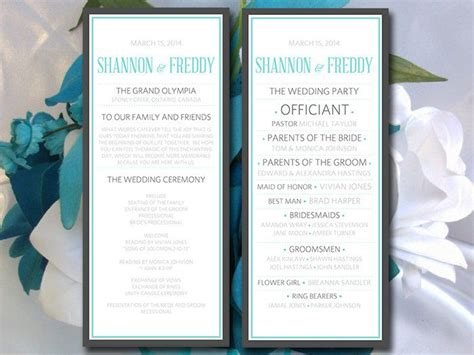 modern wedding program template modern wedding program templates www imgkid the