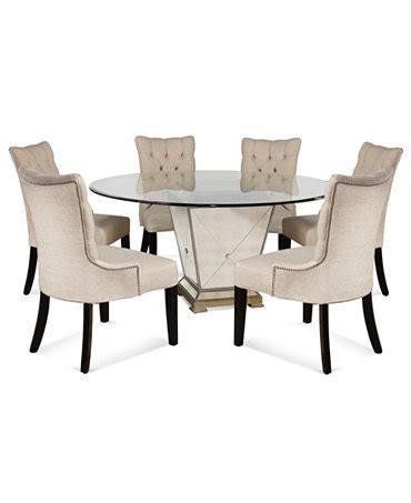 marais dining room furniture 7 set 60 quot mirrored