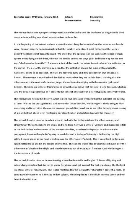 Fingersmith Essay by Sonia Marshall - Issuu