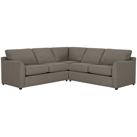 city furniture asheville brown fabric small two arm sectional