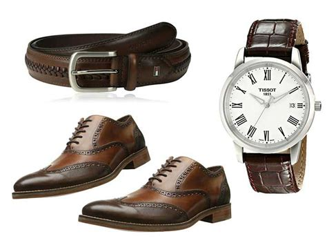 how to match shoes belts watches and other leather