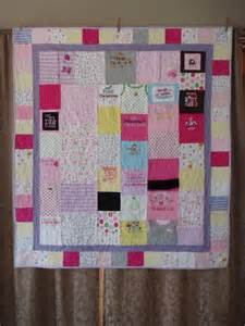 throw size patchwork quilt made from baby clothes custom