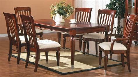 traditional cherry dining room set cherry finish traditional 5pc dining room set w optional items