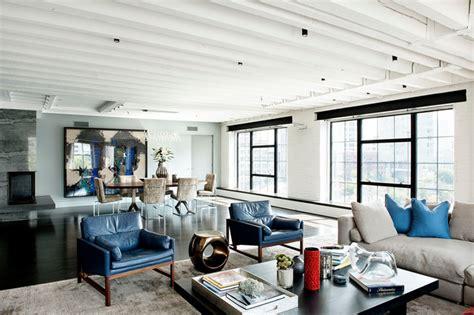 laight street loft industrial living room new york by david howell design