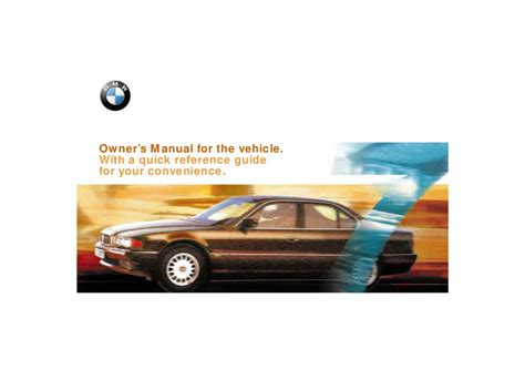 free auto repair manuals 2000 bmw 7 series electronic toll collection 2000 bmw 7 series 740i 740il 750il e38 owners manual