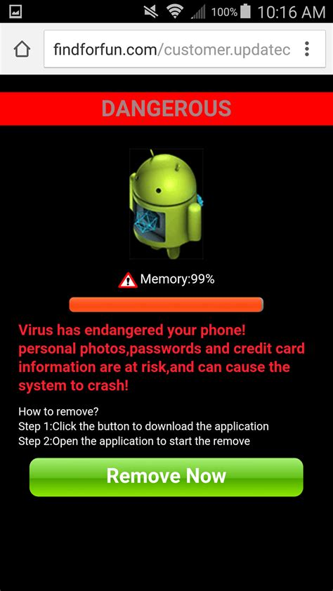 virus on android android malware warning with superclean droidcleaner apps