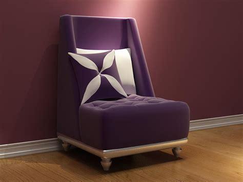 European Lounge Chair Design Ideas European Purple Single Sofa 3d Model Including Materials 3d Model Free 3d Models