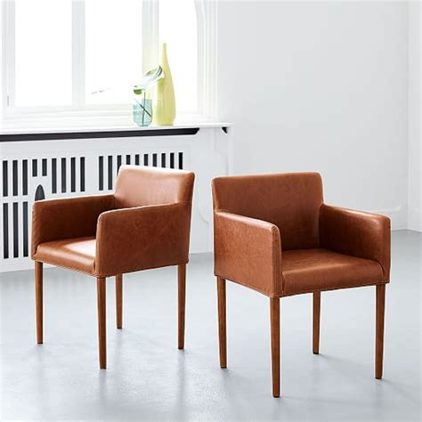 leather dining armchair ellis faux leather dining armchair west elm