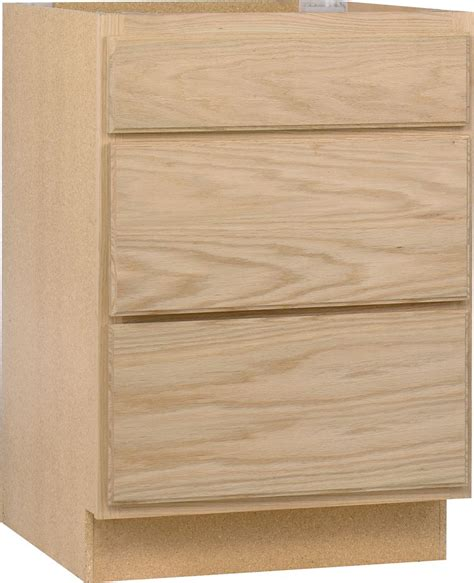 Unfinished Drawers by Unbranded Unfinished Oak 24 Inch Drawer Base Cab The