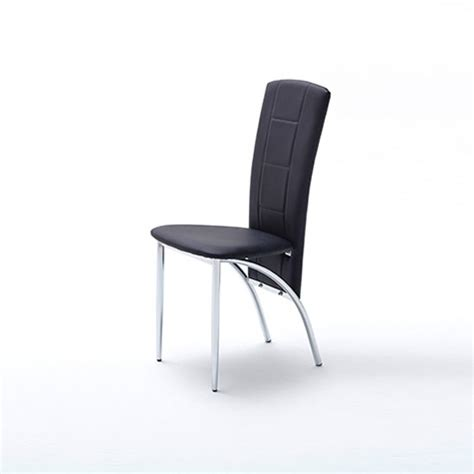 black leather and metal dining chair berit metal swinging black faux leather dining chair