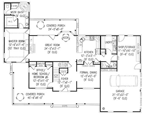 country farmhouse floor plans country farmhouse house plan 96828