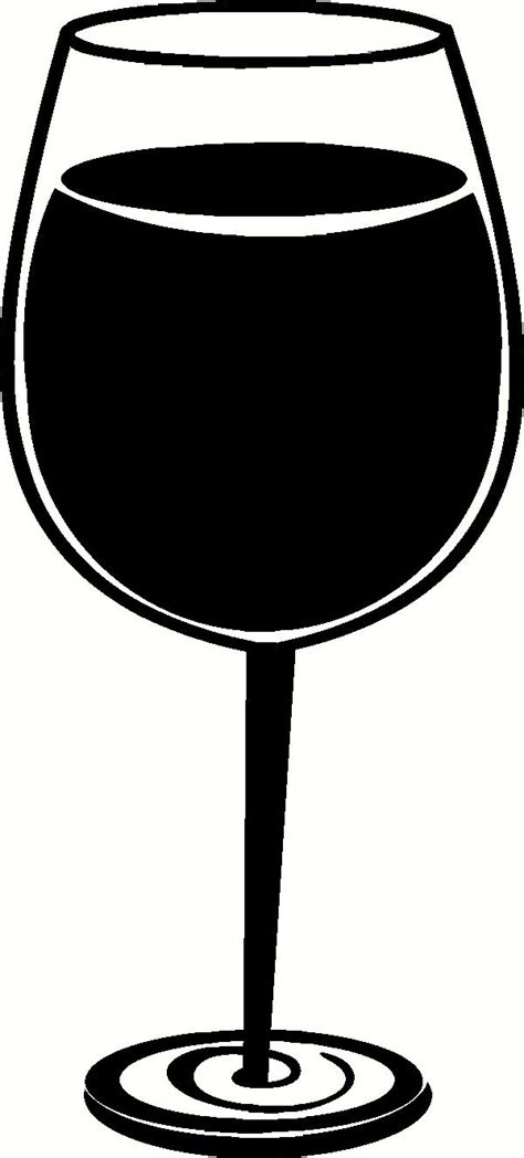 wine glass silhouette wine glass wall sticker vinyl decal the wall works