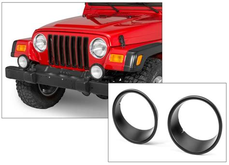 jeep tj grille inserts grille inserts with headl bezels for 97 06 jeep