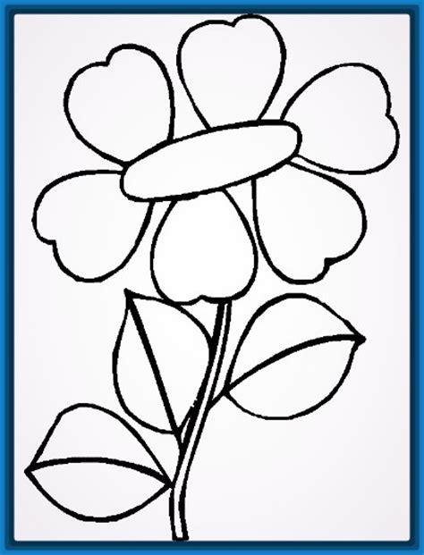imagenes de flores faciles para colorear dibujos para colorear flores sencillas archivos dibujos