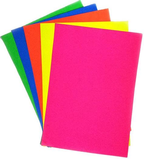 A4 Paper Craft - flipkart ziggle fluorescent unruled a4 craft paper