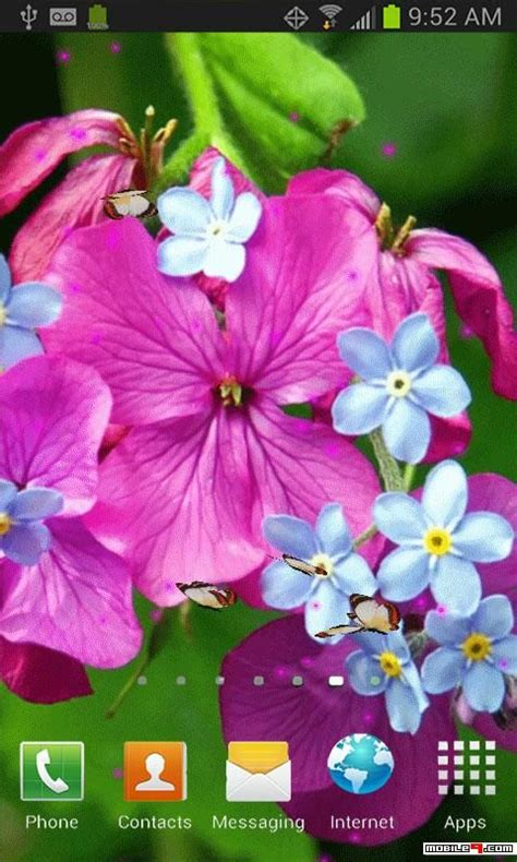 Android Flower Live Wallpaper Mobile9 pink flower butterflies live wallpaper mobile9