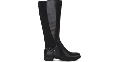 nine west no symphony leather knee high boots in black lyst