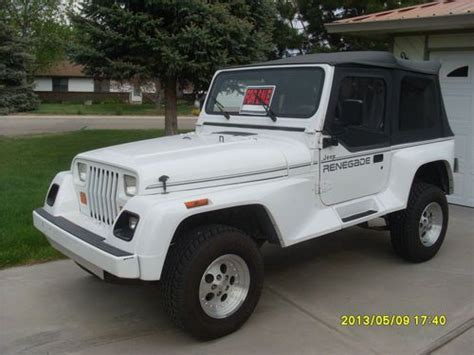 Jeeps For Sale In Boise Find Used 1991 Jeep Wrangler Renegade Sport Utility 2 Door