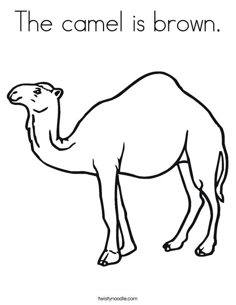 The Camel Is Brown Coloring Page Twisty Noodle Brown Coloring Pages