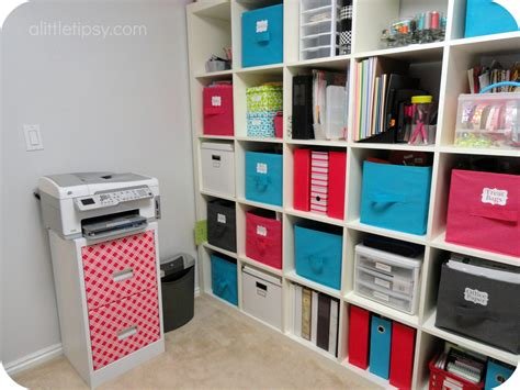 storage in room craft room reveal a tipsy