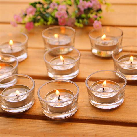 Plain Glass Candle Holders by Small Glass Candle Holders Clear Votives Tea Lights