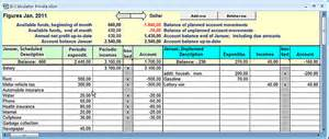 income and expenditure calculator private excel