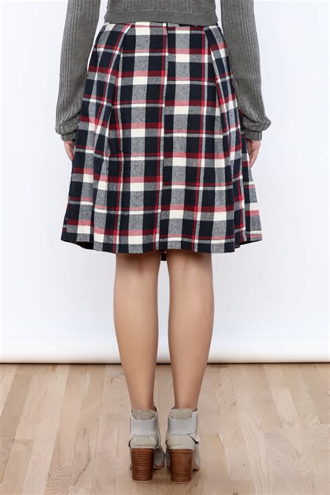 le lis plaid midi skirt from new jersey by mint market
