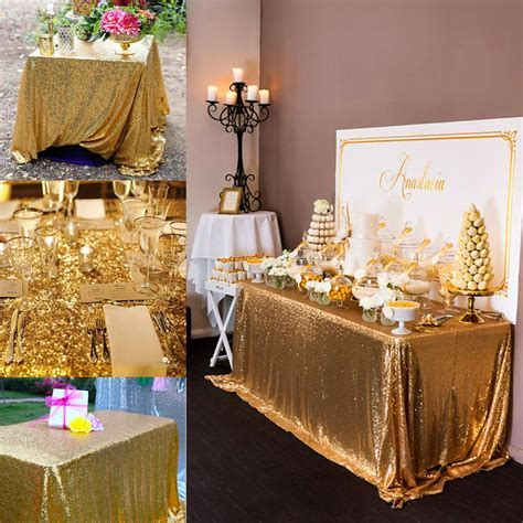 100*150cm Rectangular Sequin Tablecloth Table Cloth