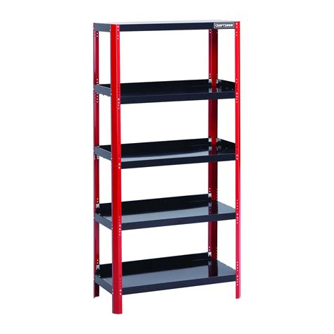 craftsman 36 quot wide steel shelving unit black free