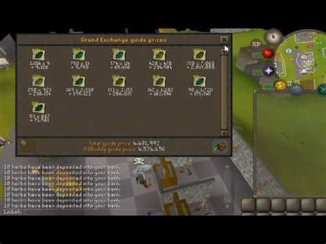herb boxes osrs osrs openning 400 herb boxes 2017 4 5 mill profit youtube
